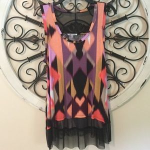 NWOT Jennifer Lopez Collection Tank Top Tunic L